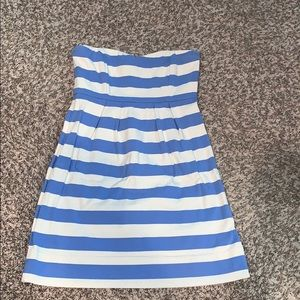 NWOT!! J.Crew size 6 Blue and Cream striped dress